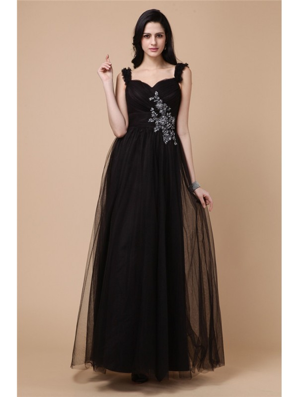 Hot A-Line Straps Cut Net Short Dresses With Beading