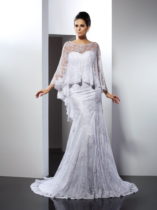 Popular Mermaid Sweetheart Cut Lace Long Wedding Dresses With Applique