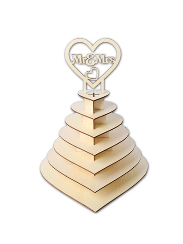 Delicate Wooden Wedding Chocolate Display Stand