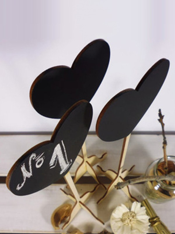 Lovely Wooden Table Numbers(10 Pieces)