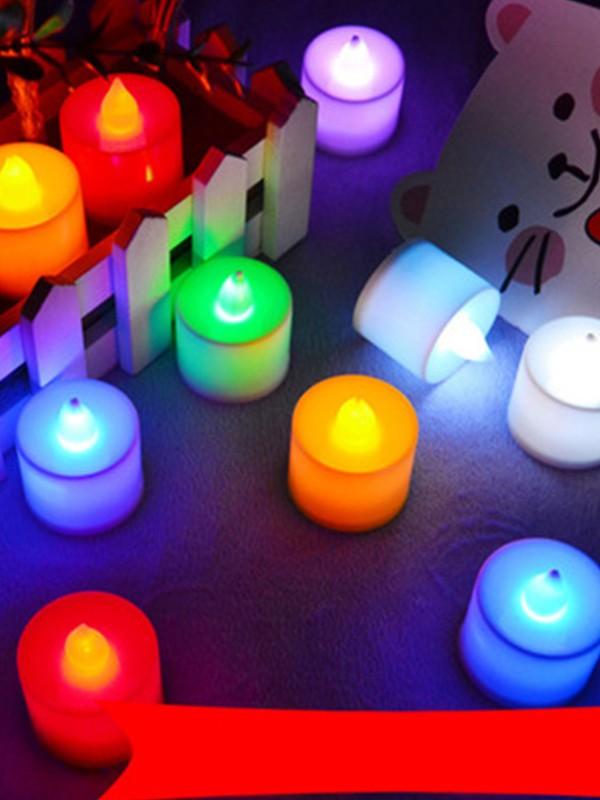 Colorful LED Candles Wedding Decorations(24 Pieces)