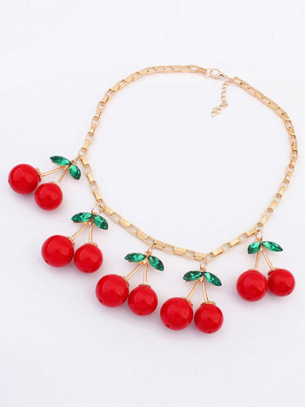 Korean version Lovely Cherry Stylish Hot Sale Necklace