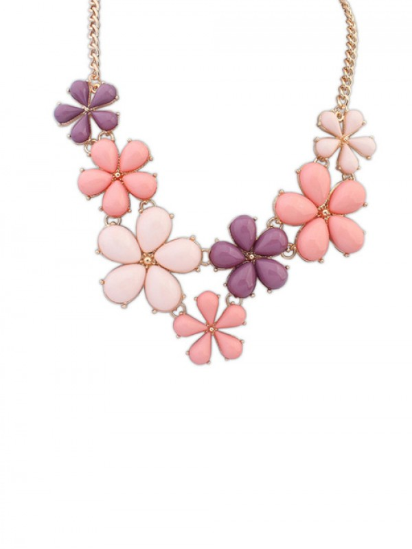 Occident Flowers Sweet Hot Sale Necklace