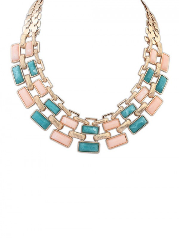 Occident Stylish OL Style Geometry Blocks Hot Sale Necklace