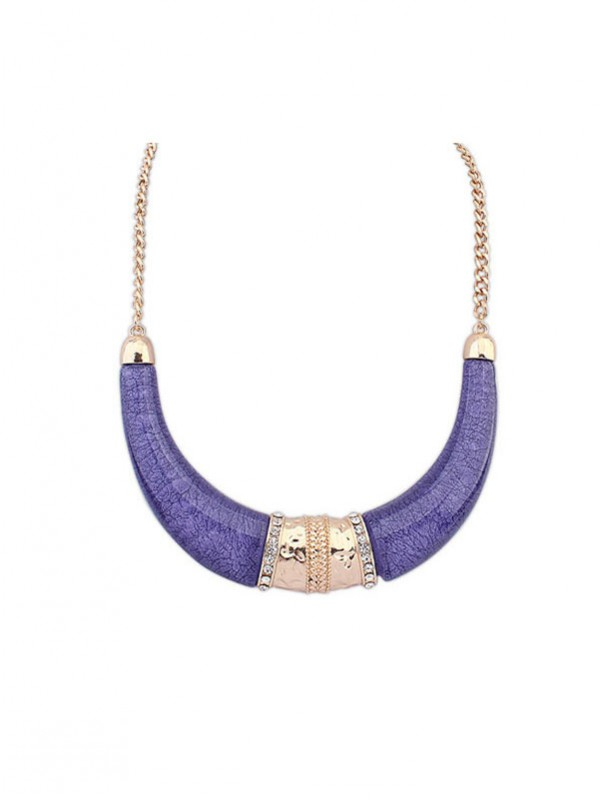 Occident Hyperbolic Ethnic Customs Semi-arc Hot Sale Necklace