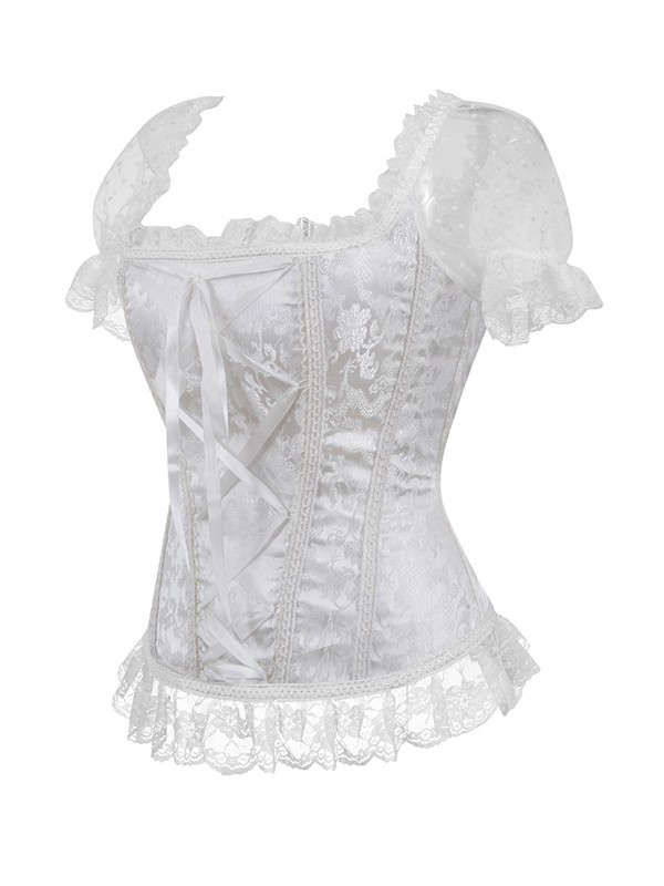 Soft Women's Nylon With Lace Corsets