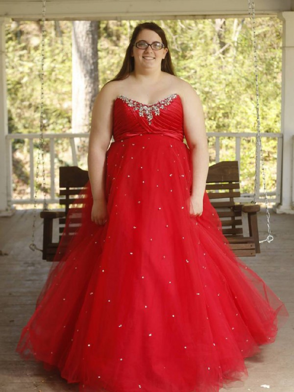 Fashional Ball Gown Sweetheart Cut Organza Long Plus Size Dresses With Beading