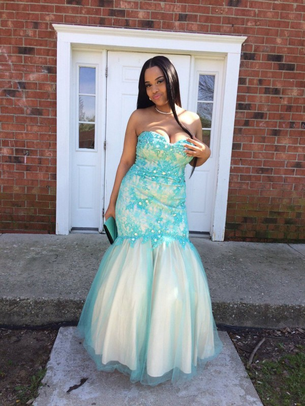 Gorgeous Mermaid Sweetheart Cut Tulle Long Plus Size Dresses With Applique
