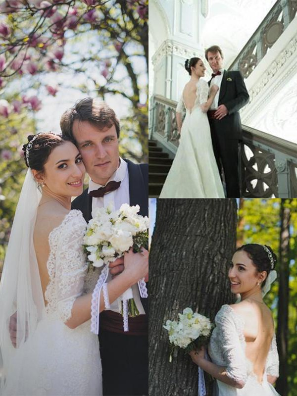 Shining Sheath V-neck Cut Lace Long Wedding Dresses With Ruffles