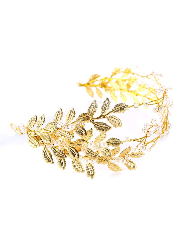 Gorgeous Leaf Pearl Headpieces