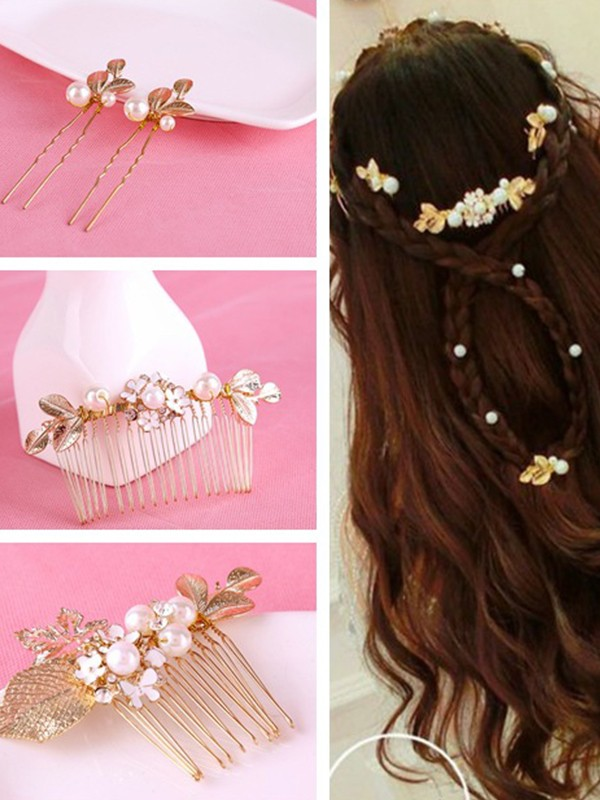 Stunning Flowers Alloy Headpieces